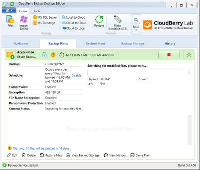 CloudBerry Backup for Windows