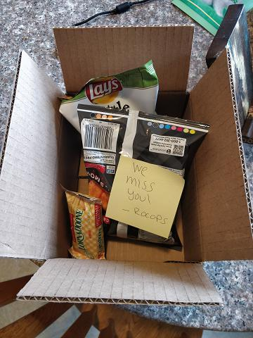 My care package from the office