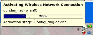 KNetworkManager configuration progress